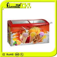 Deep Sliding Flat Glass Door Freezer SD-303/SD-370/SD-510/SD-610