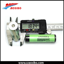 rechargeable lithium battery NCR18650B protected used into flashlight