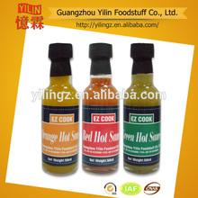 Prix concurrentiel 150ml bouteille en verre jaune sauce chili marques. chinois de fabrication certifiées haccp et iso