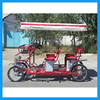 new style four person surrey bike quadricycle for sightseeing