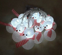 2016 style snow man CE ROHS certificated new designed popular ball led decorate light led home decoration light