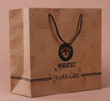 Brown Kraft Paper Bag, Kraft Paper Bag With Cotton Handle, Grocery Kraft Paper Bag