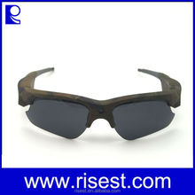 Camo Color 1080P HD Sunglasses Eyewear Camera DVR With Changeable Lens for Outdoor Sports like Fishing, Huntin