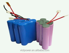 18650 3S3P Lithium-ion Battery Packs, 12V/6600mAh battery with DC Plug, for LED Lighting