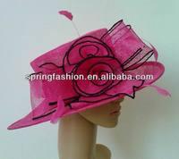 Fuschia/black church hat