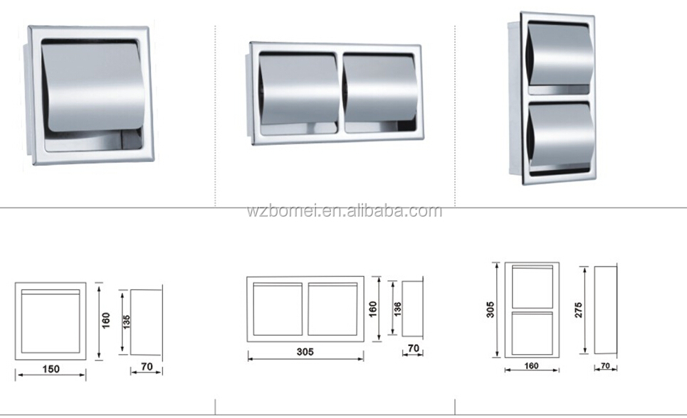 Recessed toilet paper holder brushed nickel home design inspirations - Recessed brushed nickel toilet paper holder ...