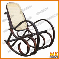 Curved wooden relax chairs