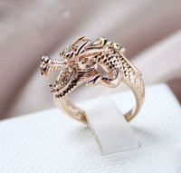 unique design dragon shape rings,meanful stainless steel ring for cool man,modern fashion popular gold plated ring