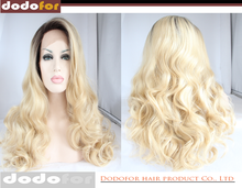 Wholesale alibaba heat safe synthetic lace front 613 blonde wig