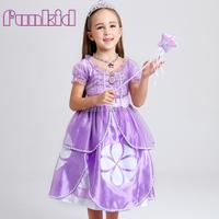 Wholesale high quality children purple sofia princess dress factory for girls' dress