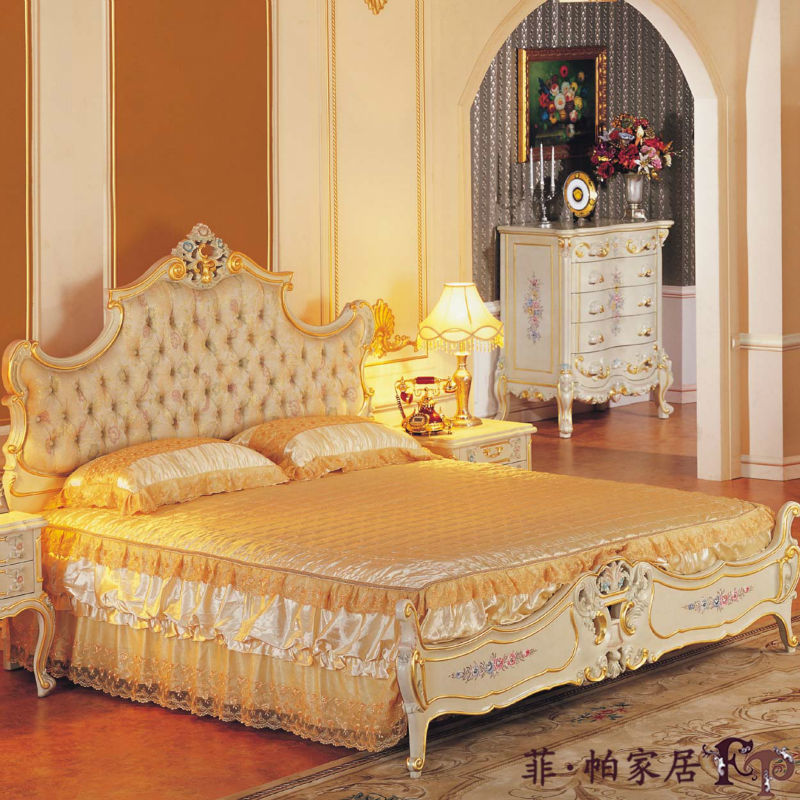 klassische italienische m bel handgemachtes abgabebett des festen holzes bett produkt id. Black Bedroom Furniture Sets. Home Design Ideas