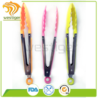 FDA certificate food grade material kitchen utensils silicone food tong