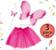 Halloween costume for kids 3 pcs set with wings ,skirt and magic wand