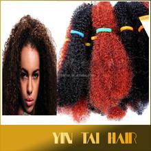 "12"" 125g Wholesale Noble Gold Afro kinky bulk synthetic hair bulk no shedding kinky curly hair"