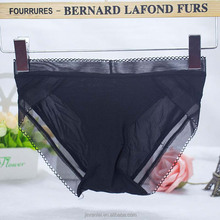 Triangle front black net push up transparent sexy transparent ladies underwear panties