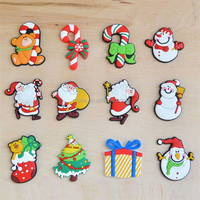 customize high quality 3d soft PVC rubber christmas ornaments fridge magnet