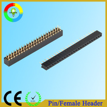 Through-hole/SMT gold-plated 2.54mm triple row pin header