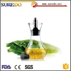 White Glass Bottle Olive Vinegar Oil Cruet