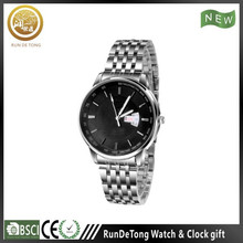 Classic date stainless steel back watch mj