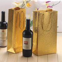 Promotional Retail Recycled Paper Bags for Wine Gift Packaging