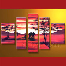 famoso paisaje pintura al óleo sobre lienzo