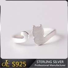 Animal cat design ring value 925 silver ring adjustable sterling silver jewelry