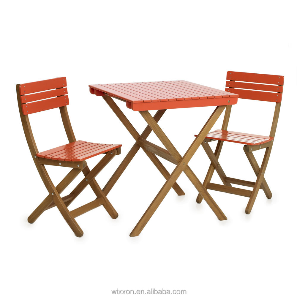 wooden folding garden table set chair set wooden bistro table set