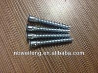 Zinc plated furniture cam lock screw Hex head