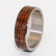 Trendy design wood naturally oil-rich and extremely durable ring
