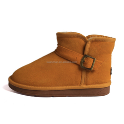 new product durable winter leather women boots shoes for women