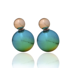 Hot sale Double-sided fashion explosion models big poster size pearl earrings