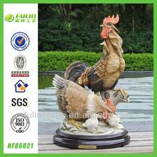 casa de resina de mesa estatua de gallo