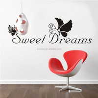 ZooYoo 3d reusable die cut vinyl sticker waterproof custom vinyl wall stickers decal for home decor Butterfly Dream (ZY8136)