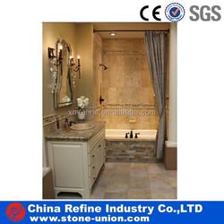 antique bathroom decoration beige travertine wall siding & pavers