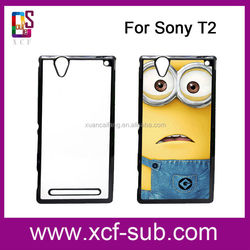 2015 Custom Hard Phone Case for Sony T2 T3, Customized Cell Phone Cover for Sony