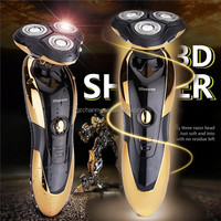 1pcs Waterproof 3D Men Rechargeable Floating Cordless Triple Blade Rotary Electric Shaver Hair Mustache Razor Men Face Care