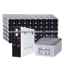 1500W sistema casero de energía solar fuera gride