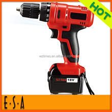 Latest 18 PC Rechargeable drill,High Quality Rechargeable Drill of Cordless Drill Machine T09B106