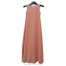 double wear wine red trapeze sundress vintage fashion casual sleeveless dress in 100% cotton