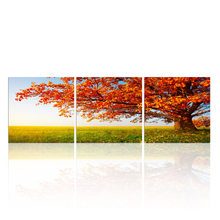 Modern Tree Stretched Canvas Printing/Group Painting For Home Decor/Digital Picture Printing Wall Art