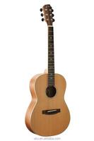 China guitar manufactures solid red cedar 36 inch standard acoustic travel guitar guilele guitalele guitarlele