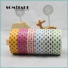 Hot selling black dot washitape for family day christmas decoration SOMITAPE