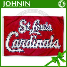 Custom made 90*150cm St. Louis Cardinals best quality 200d-knitted-polyester-flag-fabric