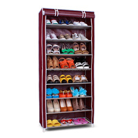 Portable bedroom furniture shoe rack metal wire shoe organizer shoe stand