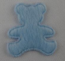 Custom bear design padded applique patch for velvet style