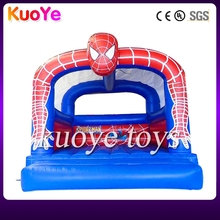 inflatable 4x3m spiderman bouncer,popular spider man bounce moon,kids inflatable jumping castle