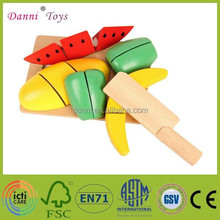 Wholesale Cutting Vegetables And Fruit Toy Wooden Kitchen Toy
