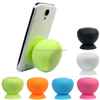 Silicone wireless bluetooth speakers mobile tablet mini portable small suction cups stereo speakers