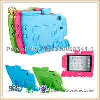 Train EVA shock resistance for iPad mini hard back case with stand