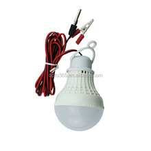 Battery Clamp LED Bulbs 12V DC 3W Solar LED Light With 12V Circuit 3W LED Bulb Light With Alligator Clips
